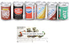 Miniature Soda Cans Mini Food Drink Doll House 6 Piece Set
