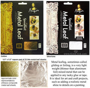 Speedball Mona Lisa metal leaf gold gilding foil pad add metallic effect to painting crafts art