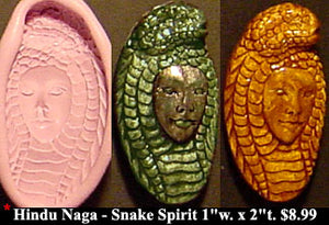 Flexible Push Mold Naga Hindu Snake Spirit