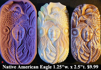 Flexible Push Mold Native American Eagle Goddess
