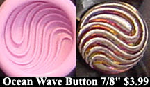 Flexible Push Mold Stylish Ocean Wave Button