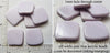 Off-White Pale Lilac Acrylic Small Curved Square Beads 20mm x 20mm x 3mm