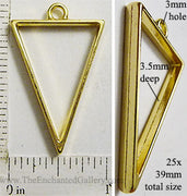 Open Back Triangle Frame 25mm x 39mm Goldtone