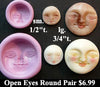 Flexible Push Mold Open Eyes Round Faces Two Molds