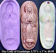 Flexible Push Mold Our Lady of Guadalupe