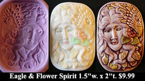 Flexible Push Mold Eagle and Flower Spirit