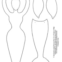 Unmounted Rubber Stamp Set Paper Doll #Doll-112