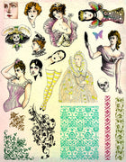 Unmounted Rubber Stamp Set Doll Collage #Altr-122