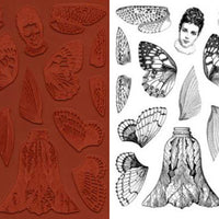 Unmounted Rubber Stamp Set Butterfly & Dragonfly Doll Parts #Wing-116