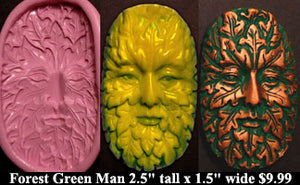 Flexible Push Mold Traditional Forest Green Man