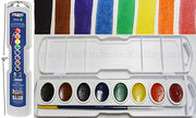 prang watercolor set beginner art supplies artist cheap inexpensive half pan set travel brush