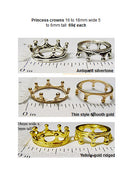 Princess Crown Miniature Doll House Kids Craft or Jewelry Ring Finding Charm Bead (Choose a Color)