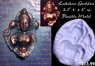 Flexible Push Mold XL Lakshmi Goddess Fragment