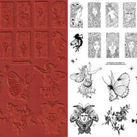 Unmounted Rubber Stamp Set Nature Domino #Natu-111