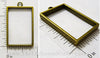 Open Back Rectangle Frame 20mm x 30mm x 4mm Bronzetone