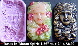 Flexible Push Mold Roses in Bloom Spirit