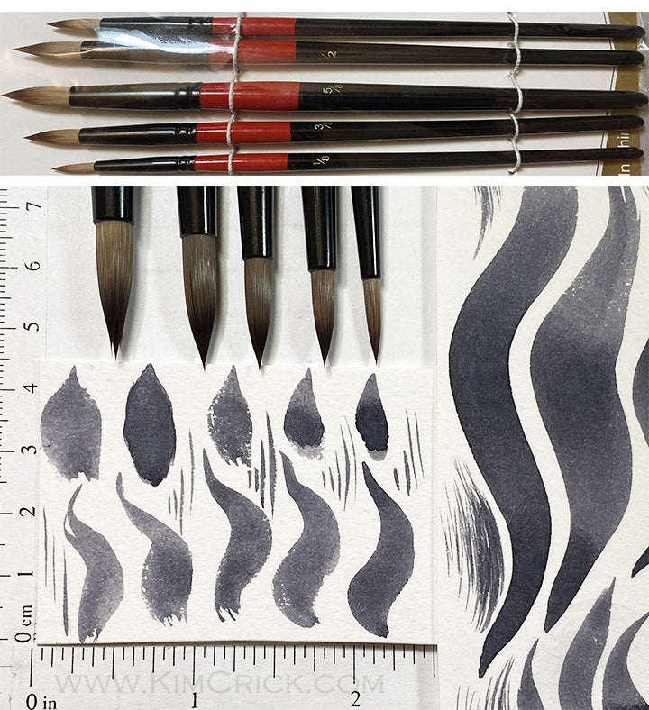 Round Watercolor Brushes - Synthetic Nylon Beginner Artist Bargain Set