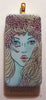 sea goddess art nouveau jewelry pendant domino game tile rubber stamp art
