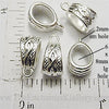 Pendant Hangers Shiny Bright Silvertone Braided Design Ten Pack