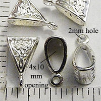 Triangle unique shape pendant hanger bail necklace focal bead handmade DIY