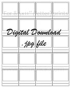 "Digital File - Simple Swatch Card Printable (20 tiled 2"" cards for 8.5""x11"" paper). Great for Colored Pencils. Instant Download"