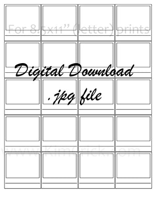 Digital File - Simple Swatch Card Printable (20 tiled 2