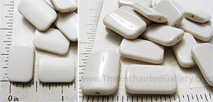 White Acrylic beads for alcohol ink custom coloring tile