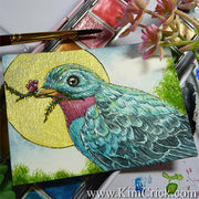 Paul Rubens Glitter watercolor 12 24 48 review painting Bird animal artwork kimberly crick
