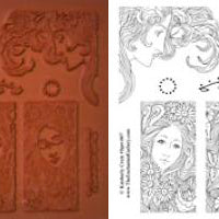 Unmounted Rubber Stamp Set Fantasy Nature #Sprt-007
