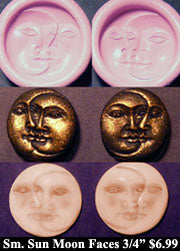 Flexible Push Mold Small Sun and Moon Mirrored Pair