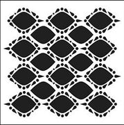 6x6 Inch Stencil Pointy Circles By The Crafters Workshop