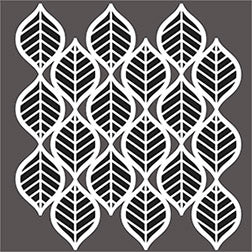 6x6Inch Stencil The Crafters Workshop BALZER ART DECO LEAVES Uneven Edge