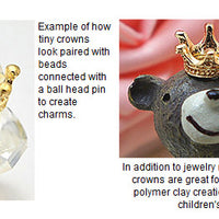 tiny crown princess beads charms jewelry clay crafting children art dolls