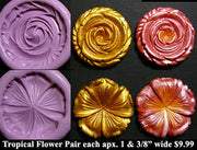 Flexible Push Mold Set Tropical Flowers Pair