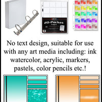 Swatch Card Rubber Stamp for Watercolor, Ink, Acrylic etc. Universal Art Medium Complex Color Chart Organization (Select Mounting Option)