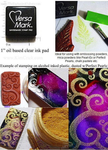 VersaMark Clear Watermark Mini Stamp Pad for Powders