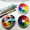 Color wheel palette container practice color theory 12 pan well slots example Shinhan korean color watercolor