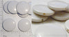 White Acrylic Circle Beads 21mm Wide