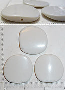 White Acrylic Asymmetric Square Large Beads 36mm x 36mm x 5mm