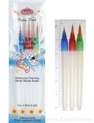 Aqua-flo water brush watercolor paint brush small medium large set