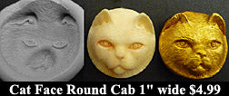 Flexible Push Mold Cat Round Face