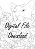 Digital File - Florida Panther Line Drawing Digi Stamp Printable Clip Art Download