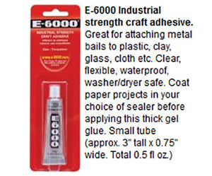 E-6000 Glue 0.5 oz Small Tube Industrial Strength Adhesive for Jewelry and Magnets
