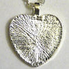25mm Heart Pendant Tray Textured Back