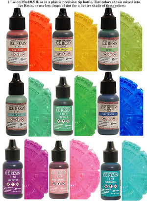 Ice Resin Brand Tint 0.5oz Bottle Color Dye for All Resin (Select a Color)