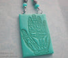 Palmistry hand jewelry magical symbols astrology pendant rubber stamp set