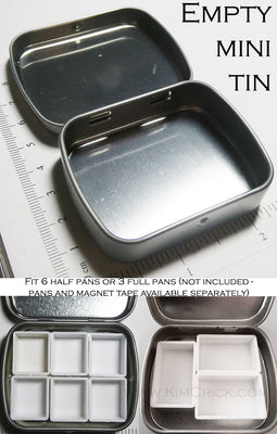 Mini Empty Metal Tin Box for DIY Watercolor Pans Travel Palette Container