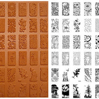 Unmounted Rubber Stamp Set Miniature Domino Trees #Mntr-M10