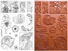 Unmounted Rubber Stamp Set Anime Marker #Mrkr-M00