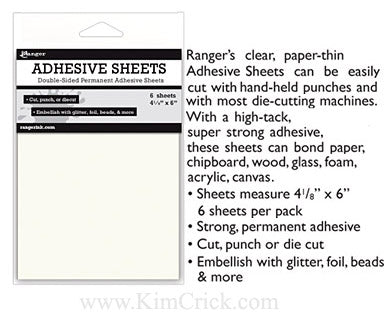 Ranger Adhesive Sheets 6 Pack Double Sided Tape